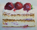 Millefeuille - oil on canvas - 16 x 20 inches - Sold