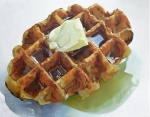 """Waffle - OIl on Canvas - 32"""" x 40"""""""