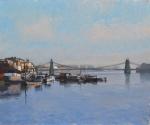 Winter Moorings at Hammersmith- oil on canvas.