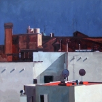 Red Rooftops, 2010, 50 x 50 cm.