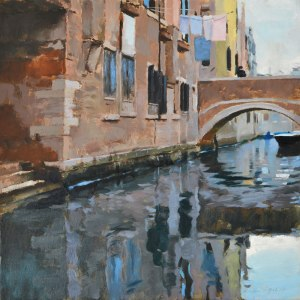 airing canal, oil on canvas, 40cm x 40cm. (sold)