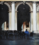 "Sitter in San Marco 24"" x 30"""