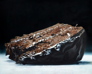 "Cake or Death , oil on canvas, 40"" x 32"""