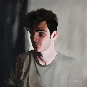 Ryan, oil on panel, 40cm sq