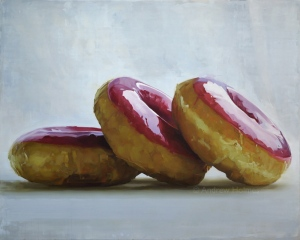 a rose is a rose is a doughnut -122 x 152 cm - Oil on canvas