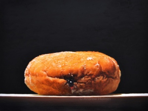 I am a doughnut -oil on panel - 61cm x 81cm