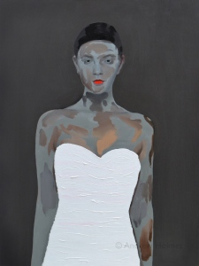 Generic girl in white - oil on panel - 80cm x 60cm