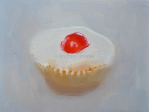 Cherry Ice - oil on paper - 23cm x 29cm