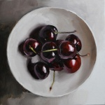 cherries 01 - 40 x 40cm - oil on canvas