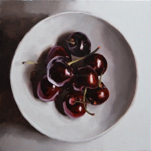 cherries 02 - oil on canvas - 40 x 40cm
