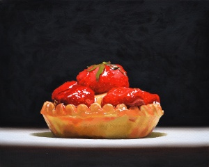 tarte au fraise - 40 x 50cm - oil on Canvas